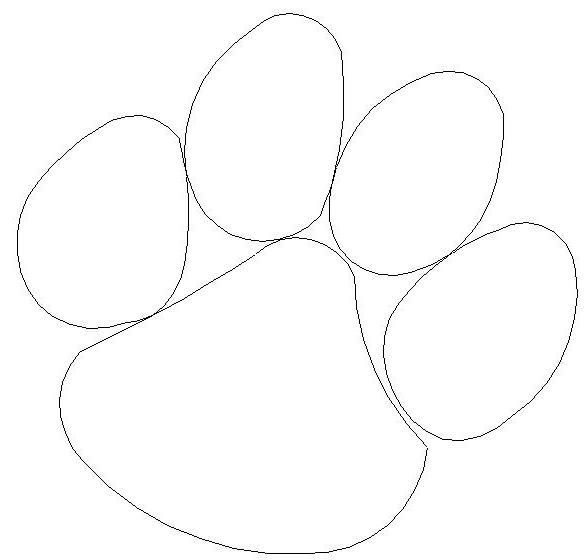 how to draw a cat paw print