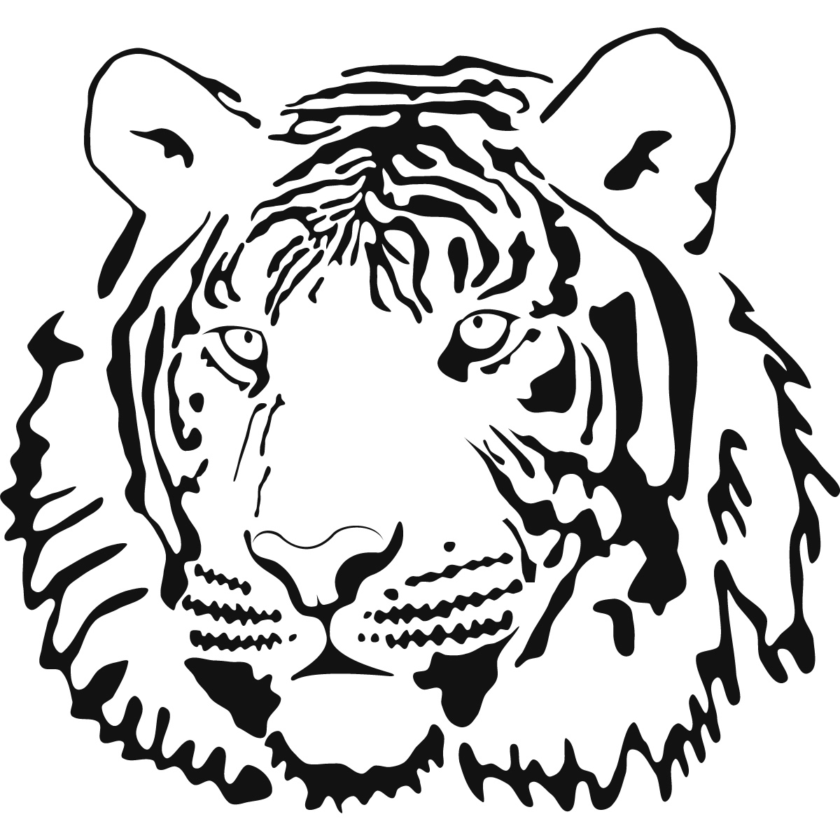 1200x1200 Tiger Face Coloring Page Coloring Bookssheets, Accessories