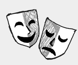 300x250 Drama (Happy Mask, Sad Mask).