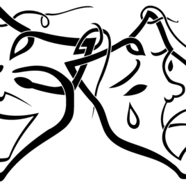 268x268 How To Draw Drama Masks Clipart Best In Style