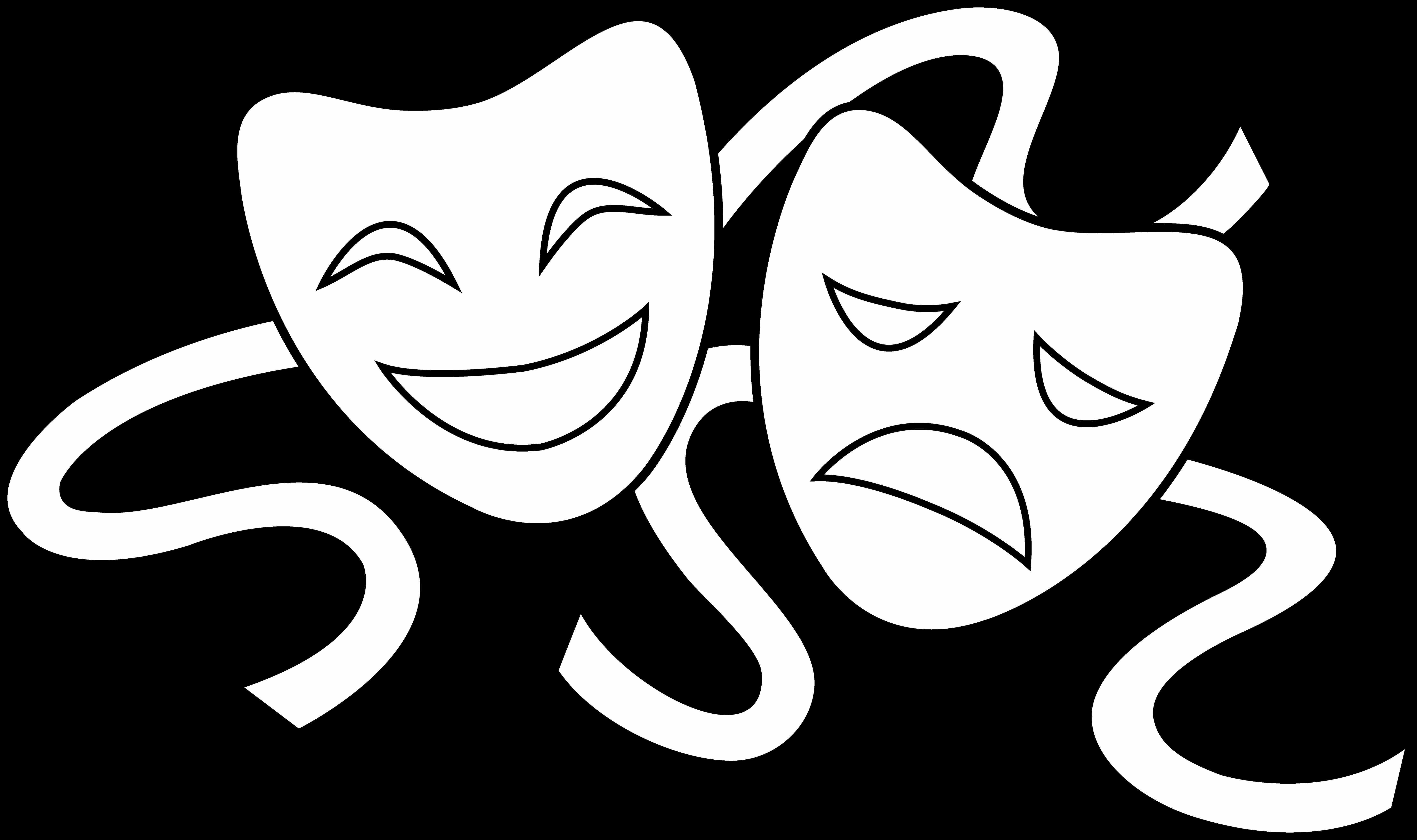 6910x4096 Drama Masks Drawings