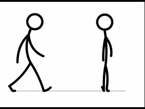 480x360 Stick Figure Walk Cycle
