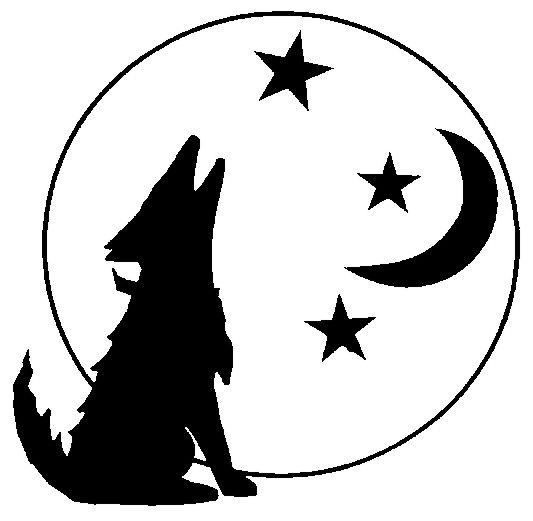 Howling Coyote Clipart