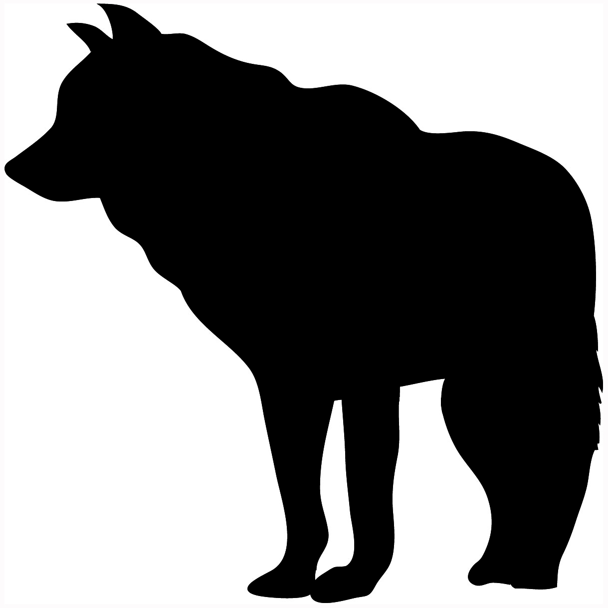 1219x1219 Howling Wolf Silhouette Clipart