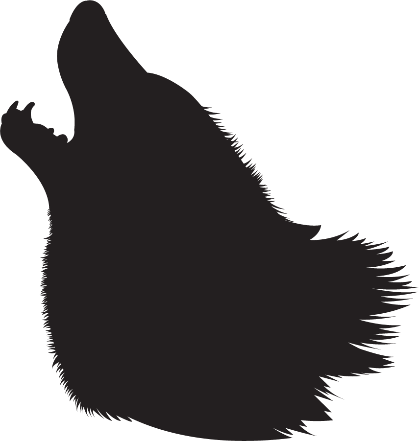 855x901 Wolf Silhouette Clipart