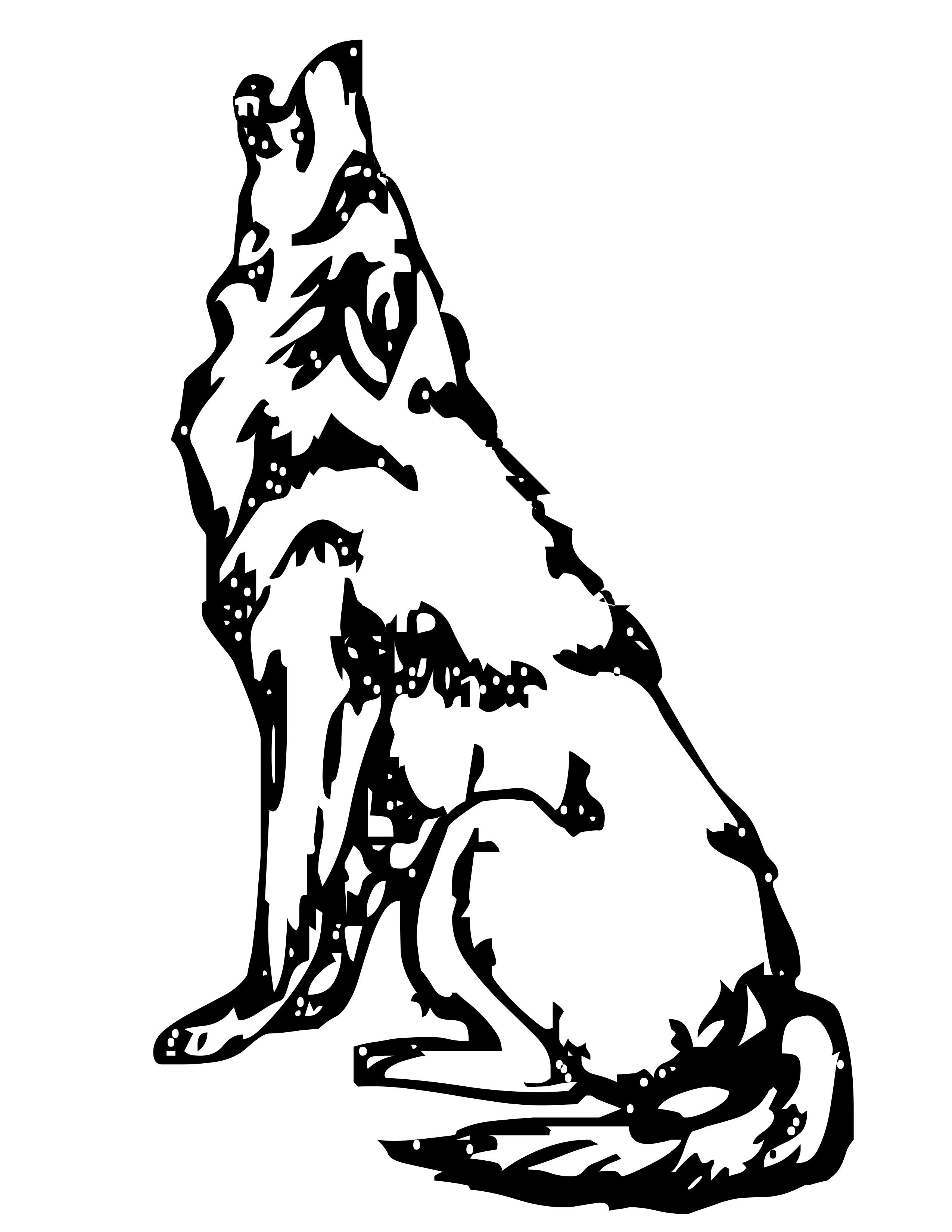 2550x3300 Wolf Clipart Realistic