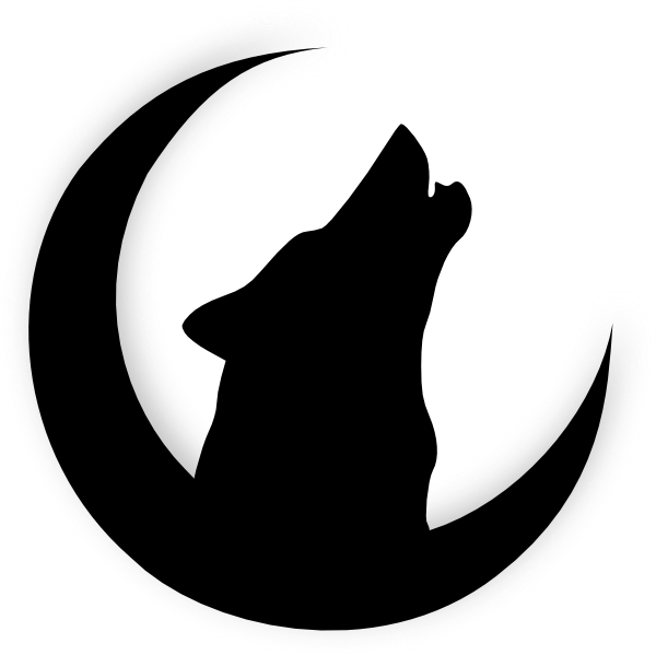 600x599 Howling Wolf Head Drawing Wolf Howling With Moon Clip Art My
