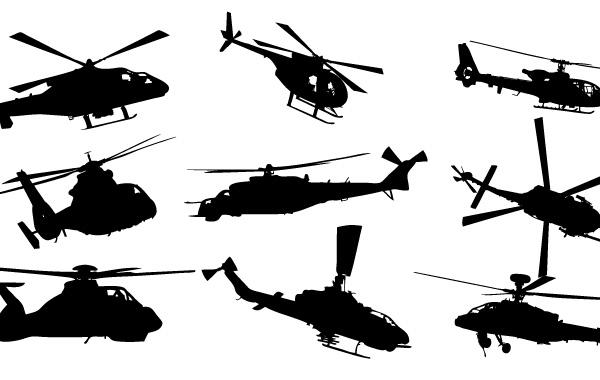 600x380 Helicopter Vector Pack