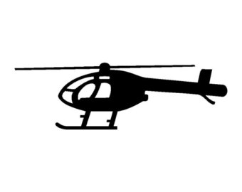 340x270 Huey Uh 1 Helicopter Vinyl Decal V1