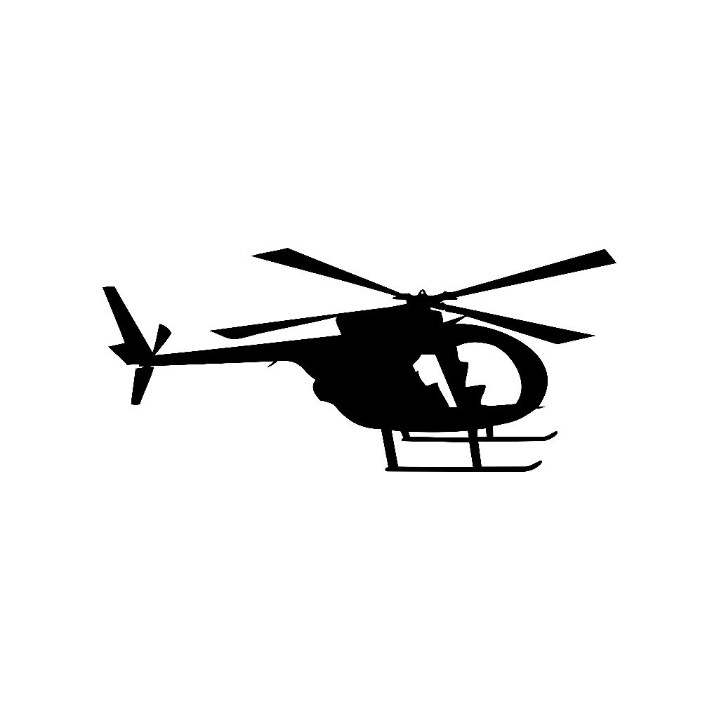 1024x1024 Md 500 Helicopter Vinyl Decal
