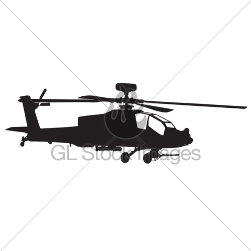 500x500 Apache Helicopter Silhouette Clipart Panda