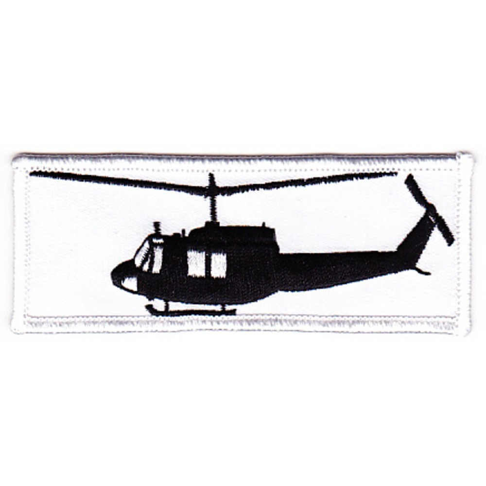 1000x1000 Bell 204 Uh 1b Huey Helicopter Silhouette On Patch5878 Specialty