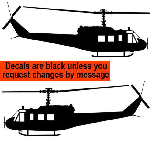 500x490 Bell Uh 1d Huey Iroquois Aviation Silhouette Vinyl Decal Ebay