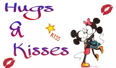 399x233 Hugs And Kisses Clipart