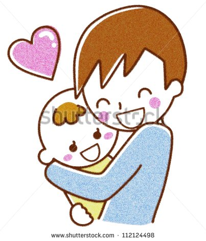 403x470 Clipart Boy Hugging Parent