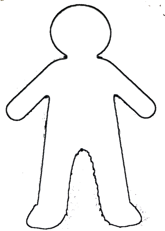human body outline printable free download best human body outline