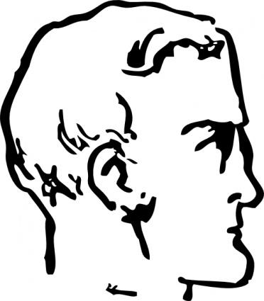372x425 Man Chin Head Clip Art Vector, Free Vectors