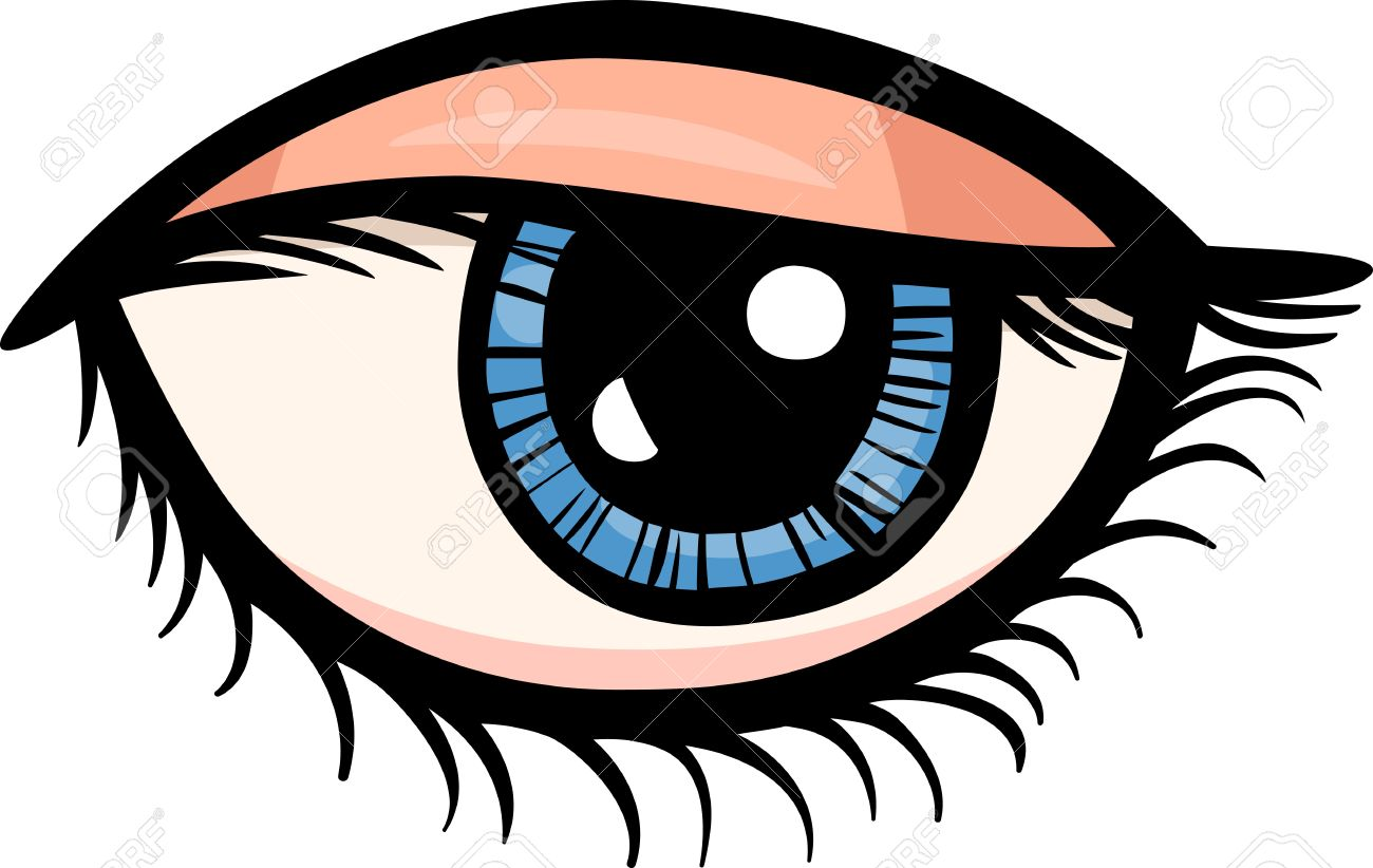 1300x822 Cartoon Illustration Of Human Eye Clip Art Royalty Free Cliparts