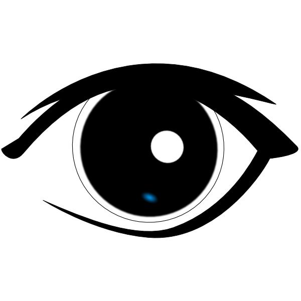 600x600 Human Eye Clip Art