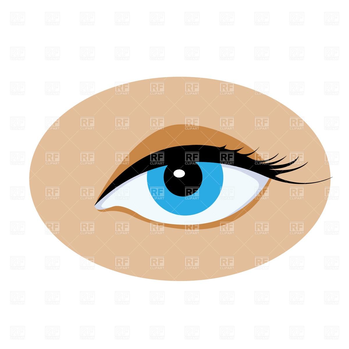 1200x1200 Opened Human Eye Free Vector Clip Art Image
