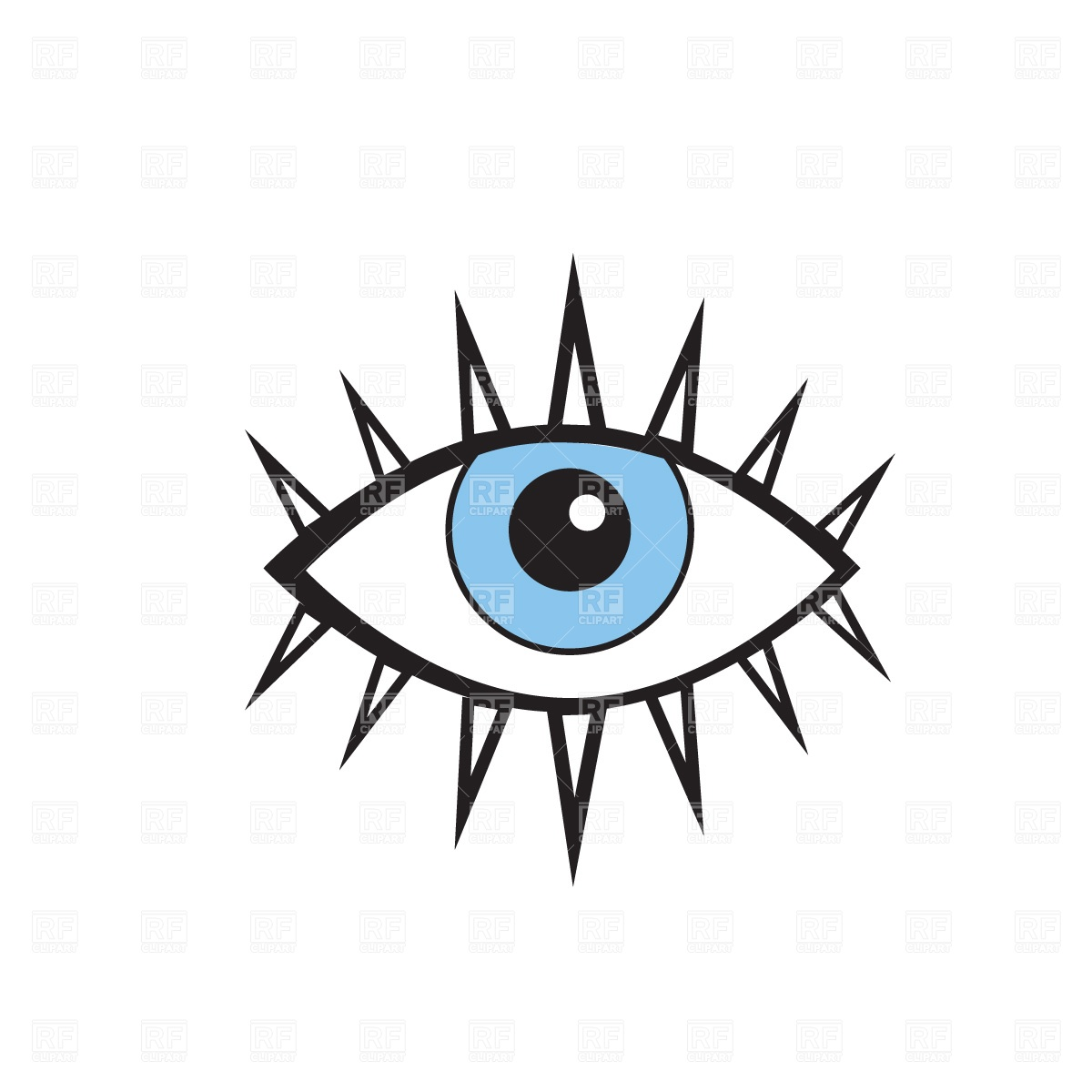 1200x1200 Stylish Human Eye Free Vector Clip Art Image