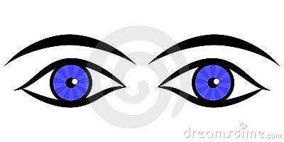 400x200 Clip Art Eyes And Eyebrows Clipart