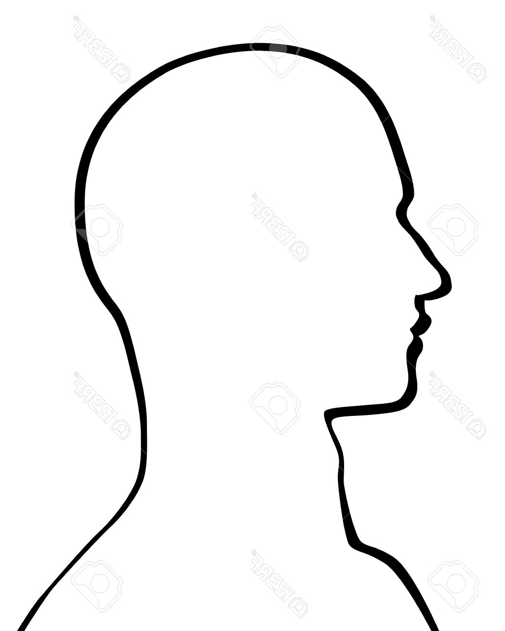 1042x1300 Drawing Face Profile Outline Human Head Royalty Free Cliparts