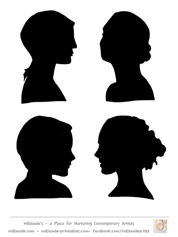 618x824 Female Face Outline