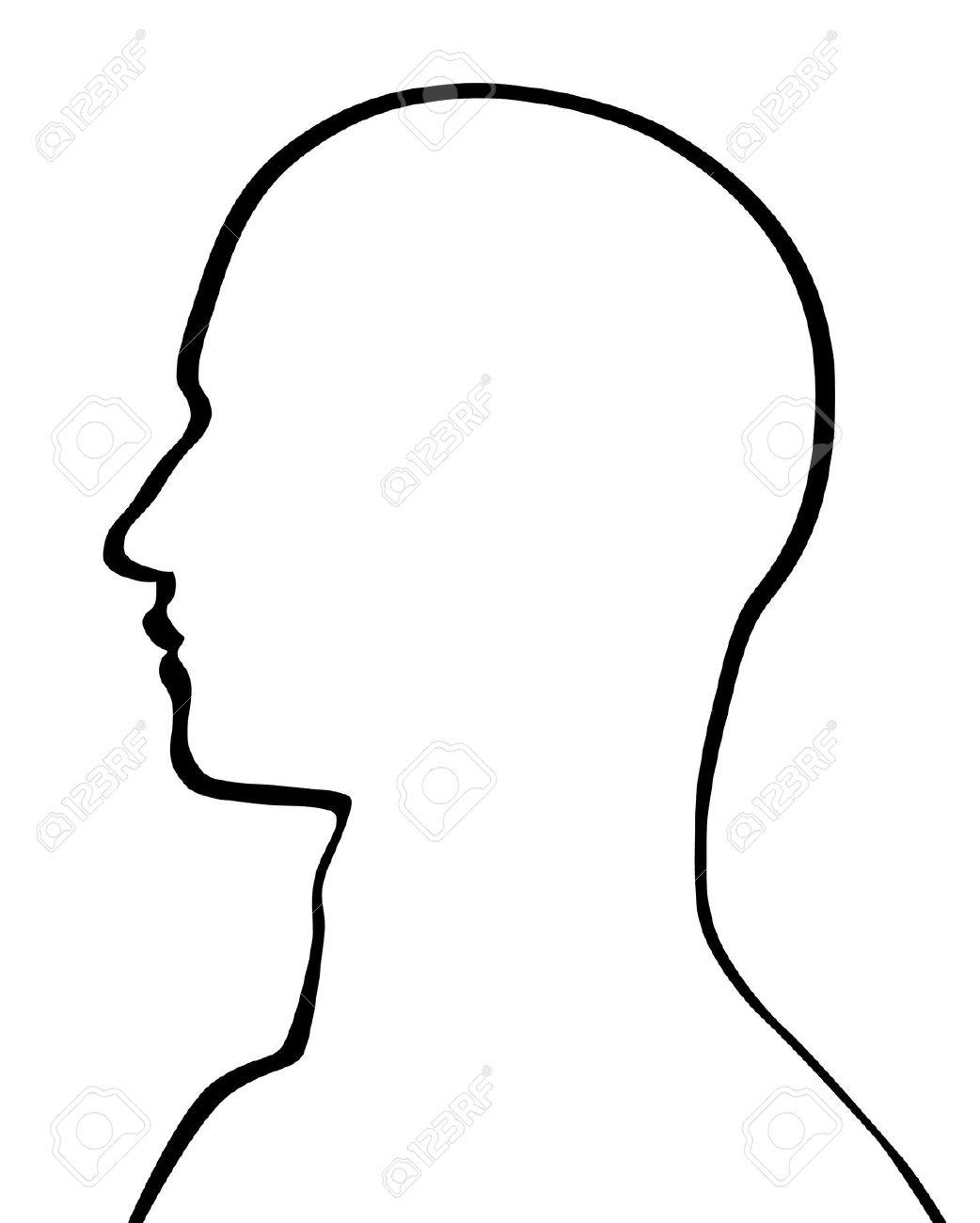 1042x1300 Head Outline Clipart