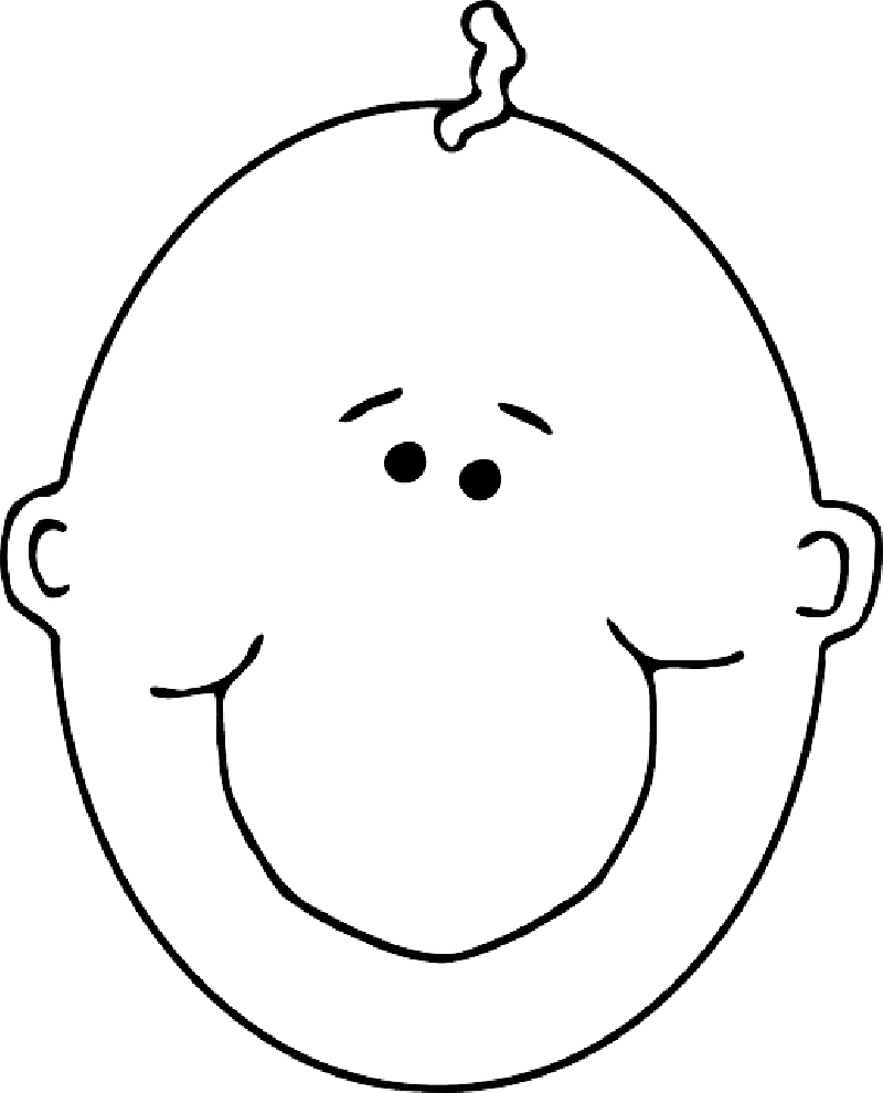 800x990 Baby, Head, Outline, People, Boy, Happy, Face, Human
