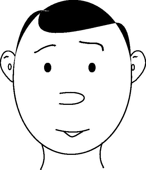 510x595 Human Face Outline Clip Art