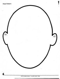 236x310 Human Head Pattern. Use The Printable Outline For Crafts, Creating