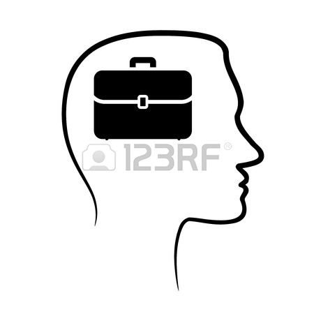450x450 Outline Design Icon With Human Head, Brain And Magnifying Glass