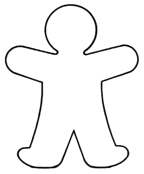 585x704 Human Body Outline Coloring Page Human Body Outline Template. Body