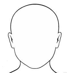 236x256 Human Head Pattern. Use The Printable Outline For Crafts, Creating