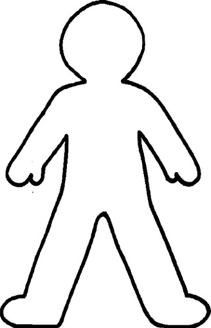 human outline template free download best human outline template