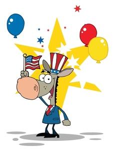226x300 Free Political Donkey Clip Art Image