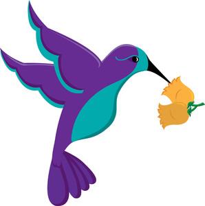298x300 Hummingbird Clipart Image
