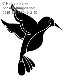 275x300 Art Illustration Of A Hummingbird Silhouette