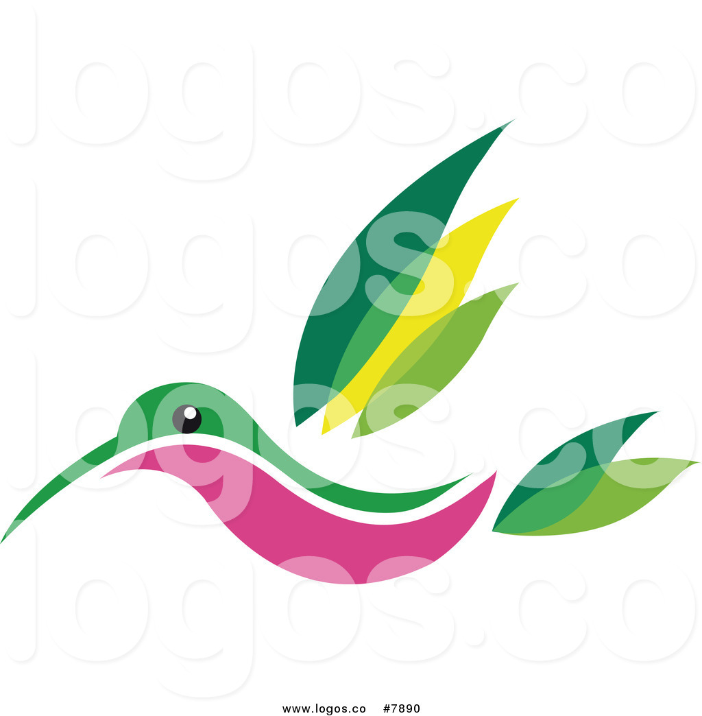1024x1044 Royalty Free Vector Of A Flying Hummingbird Logo By Vector