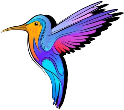 415x368 Vector Colored Humming Bird Free Vector Download (23,227 Free