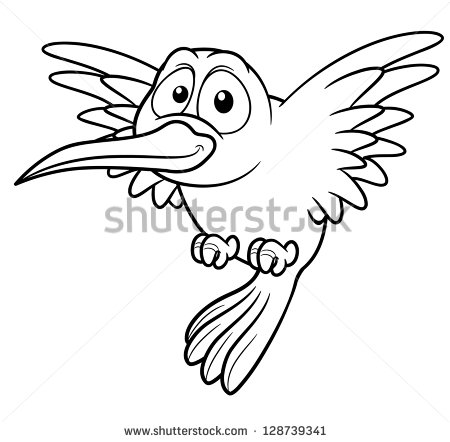 450x442 Drawn Hummingbird Cartoon