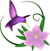 166x170 Flying Hummingbird Clip Art