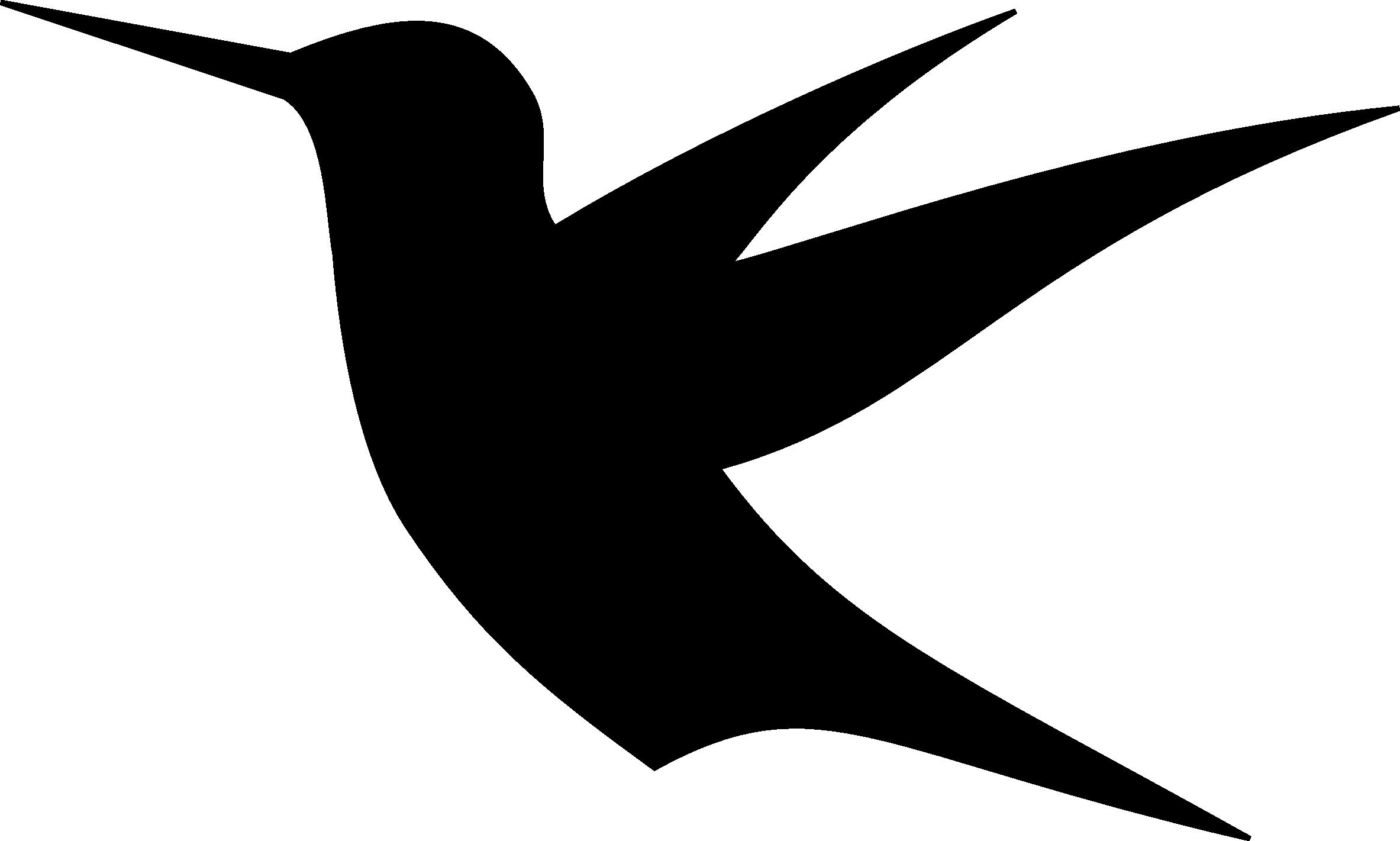 2366x1421 Hummingbird Drawing Silhouette