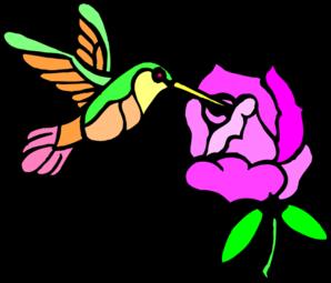 298x255 Hummingbird With Flower Clip Art