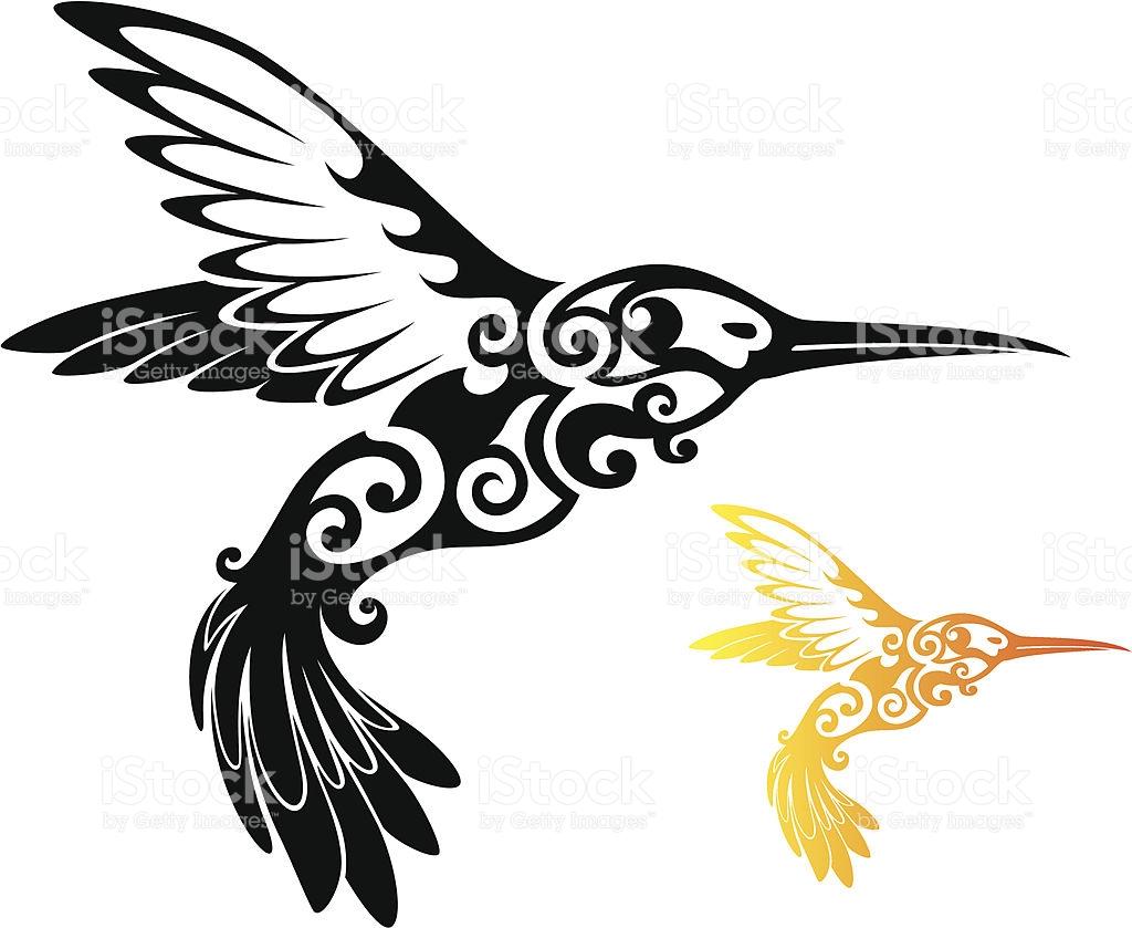 1024x839 Hummingbird Clipart Tribal