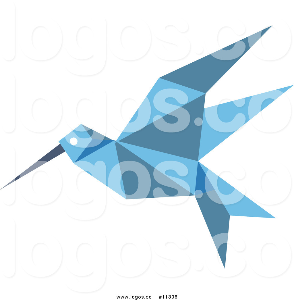 1024x1044 Royalty Free Clip Art Vector Blue Origami Hummingbird Logo By