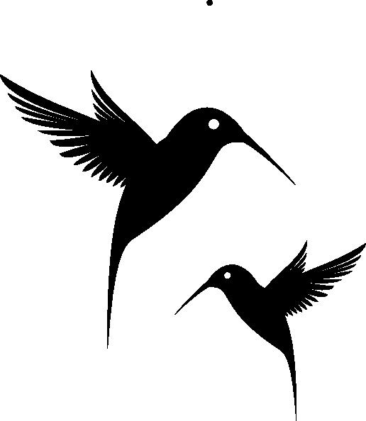 516x594 Black Humming Bird Clip Art