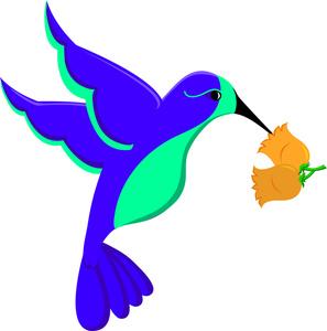 297x300 Free Hummingbird Clip Art Image