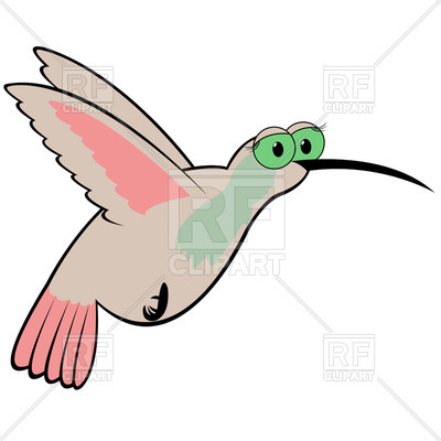 400x400 Funny Hummingbird Royalty Free Vector Clip Art Image